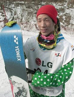 スノーボード世界選手男子ハーフパイプで決勝に進んだ青野令