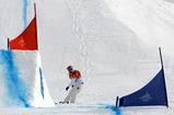 スノーボード女子クロス決勝、独走していたジャコベリスだが...