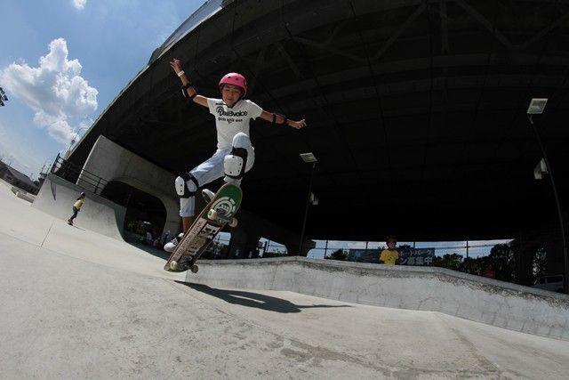 山崎 勇亀プロ スケートボード ジュニア体験スクール