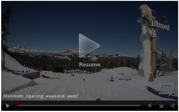 Mammoth Opening Weekend Video