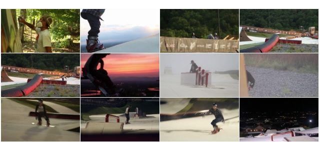 スノーフレックスでのスノーボード動画のキャプチャ一覧