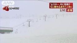長野・小谷村で山スキー中に雪崩 男性1人死亡