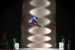 スノーボードストレートジャンプ