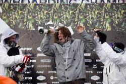 L-R: Chas Guidemond, Shaun White and Jussi Oksanen