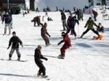 スノーボードやスキーを楽しむ若者たち(滋賀県志賀町・びわ湖バレイ)