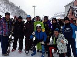 国体府予選大会に出場するゲンゼスキークラブの会員たち。スキー場は閉鎖したが活動は続く