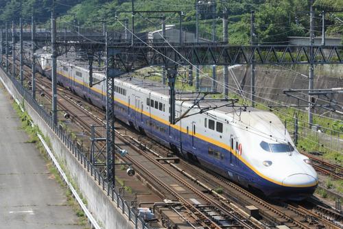 写真は上越新幹線E4系