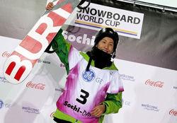 昨年2月、ロシアのソチで行われたW杯で初優勝した平岡選手