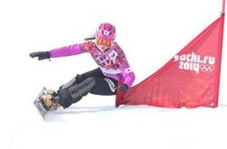 ソチ五輪 女子スノボーパラレル大回転で、予選をトップで通過した竹内智香