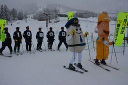 「110番の日」スキー場でPR