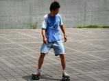 宇品の広島みなと公園の駐車場でフリーラインスケートの練習を行うことも(広島経済新聞)