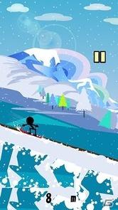 滑走!スノーボードダウンヒル
