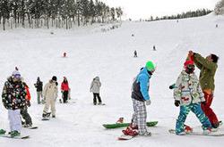 若者らでにぎわうゲレンデ=大野市の福井和泉スキー場で
