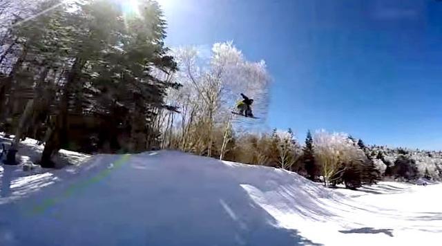 谷口尊人がスカイランドのパークを滑るよ。竜王シルブプレシーズン3-26