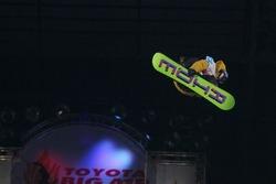 写真=前大会の山根俊樹選手のジャンプcHTB