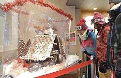 開田高原マイアスキー場に飾られた「チョコハウス」