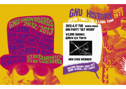 "GNU snowboards presents ""GET WEIRD"""