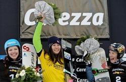 竹内が女子パラレル大回転で優勝、スノーボードW杯