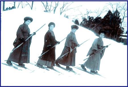 銀嶺のシュプール 日本のスキー1...