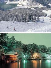 白山瀬女高原スキー場と台湾観光客に根強い人気がある兼六園(金沢経済新聞)