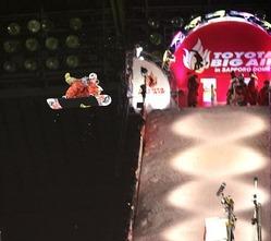 札幌ドーム初開催となった「TOYOTA BIG AIR」。優勝したスコッティ・ラゴの技にドームが沸いた