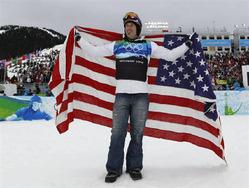 2月15日、バンクーバー五輪の男子スノーボードクロスでウェスコットが五輪2連覇を果たした(2010年 ロイター/Lyle Stafford)