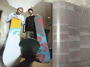 アメリカ「snowboard」誌へ掲載された時の物。