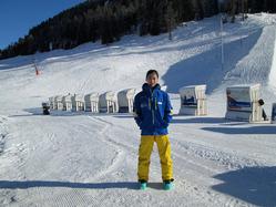 ダボスのスキー場に中国人インストラクター、ソン・シュヤオさん