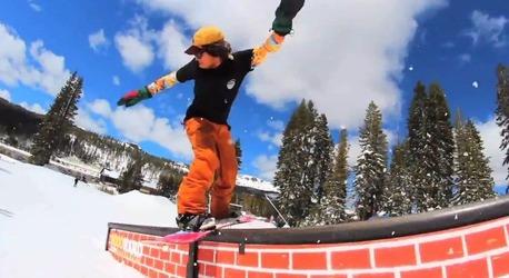 Erik Leonのスノーボードムービーキャプチャ画像