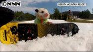雪山満喫!フクロネズミがスノーボード披露