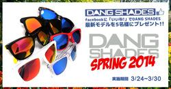 DANG SHADESが2014 SPRING  LIMITED MODELの発売を記念したFACEBOOKでプレゼント・キャンペーンを3/24日から開催!!