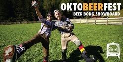 Beer Bong Snowboard: Every Third Thursday at Oktoberfest