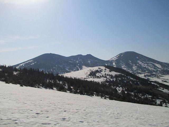 山頂駅から赤倉岳。井戸岳・大岳