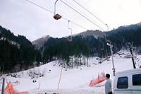 スキー客が転落する事故のあったリフト=兵庫県養父市の若杉高原大屋スキー場で2008年3月16日午後5時50分、吉川昭夫撮影