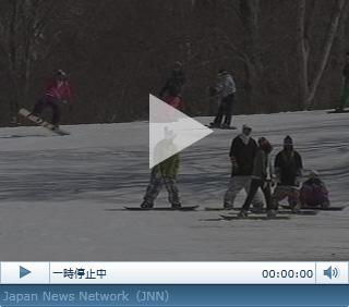 春スキーを満喫、群馬・沼田市
