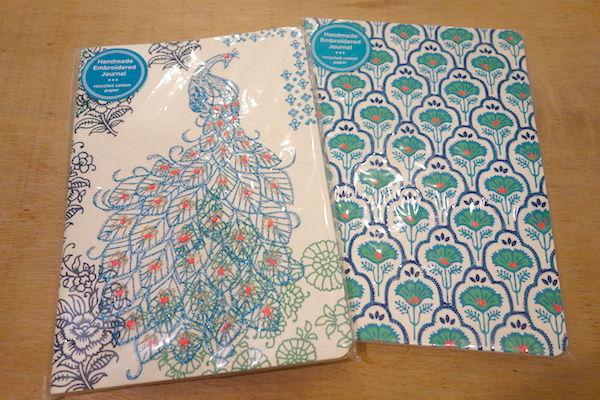 インドの表紙が刺繍ペーパーノート