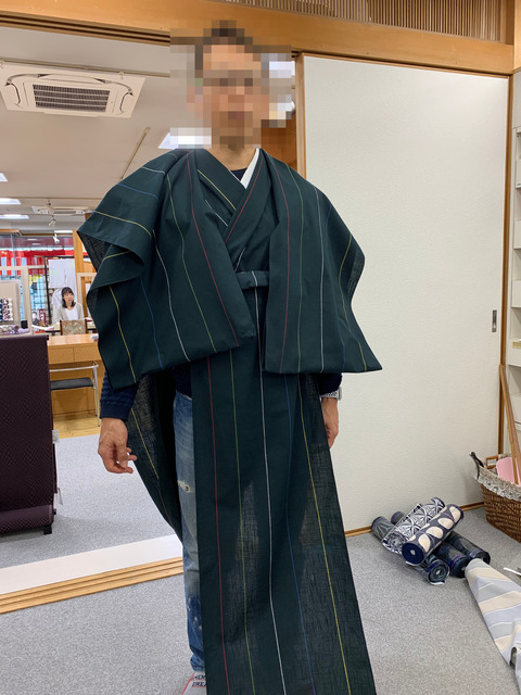 【男の着物】 普段着に着物を着たい -反物から仕立てる-