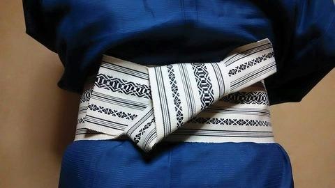 【男の着物】 帯の締め方 -様々な形式-