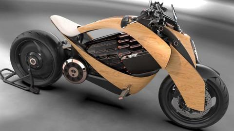 木製カウルのEVバイク 「Newron EV-1」