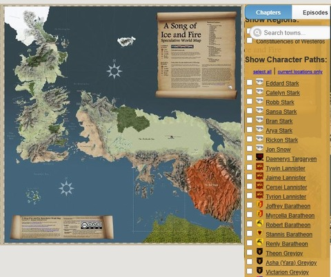 Game of Thrones(Got)のわかりやすい地図サイト