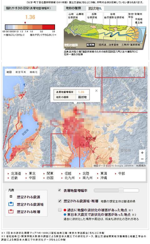 【地震】揺れやすい地盤判定