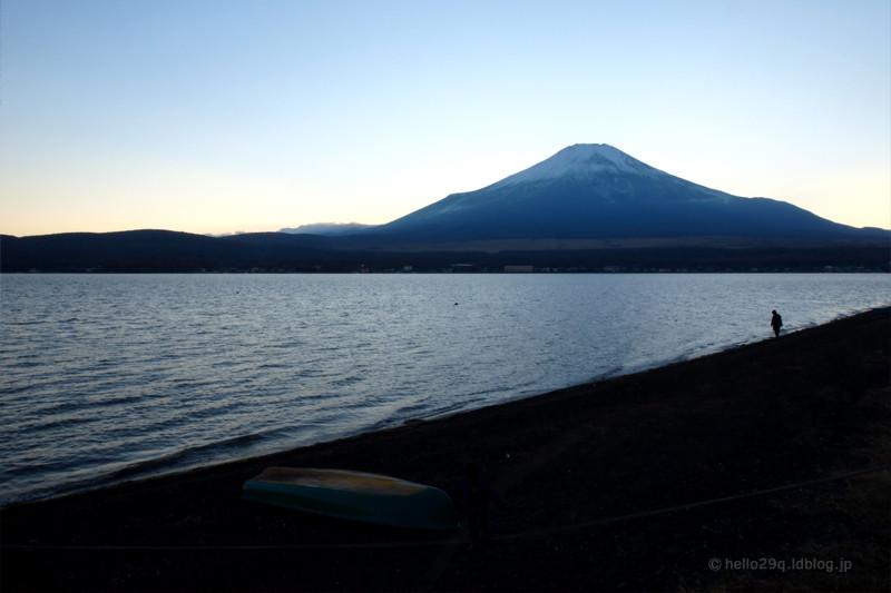 山中湖:富士山
