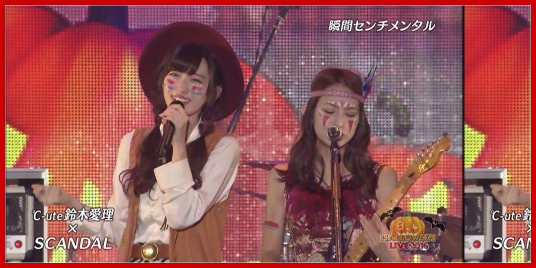 日テレ halloween live 2016 day1 鈴木愛理 scandal 2016 11 26