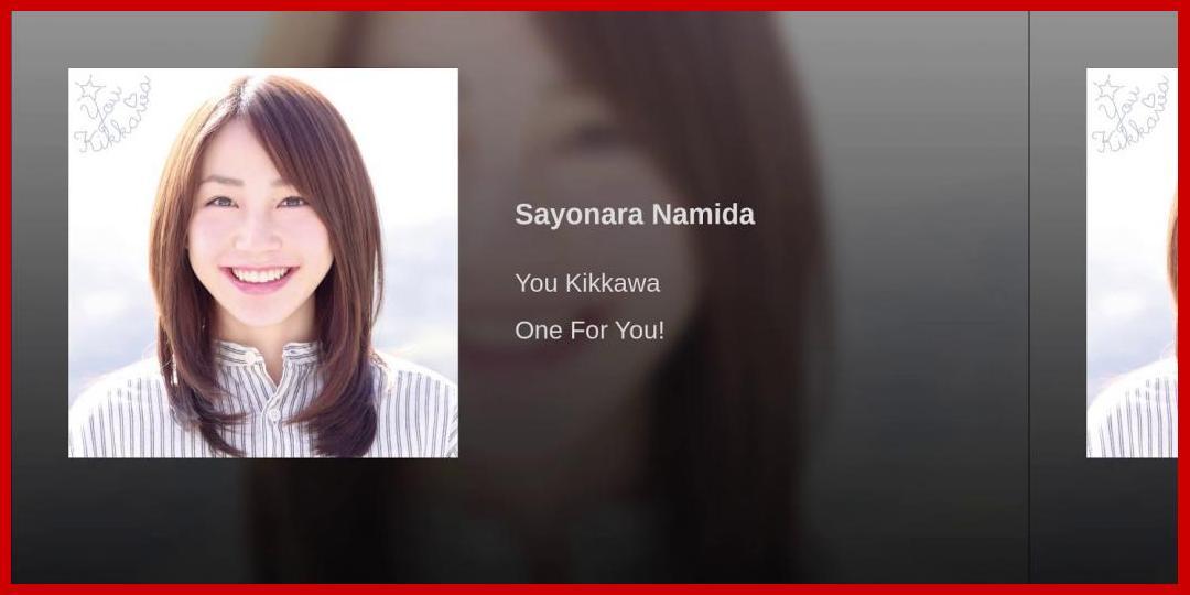 [動画あり][吉川友]Sayonara Namida