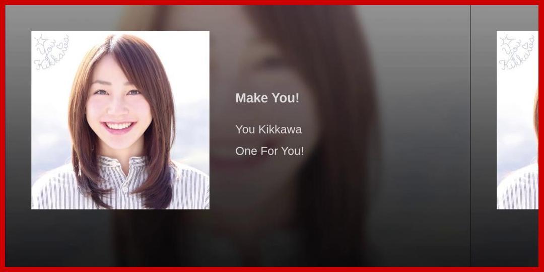 [動画あり][吉川友]Make You!