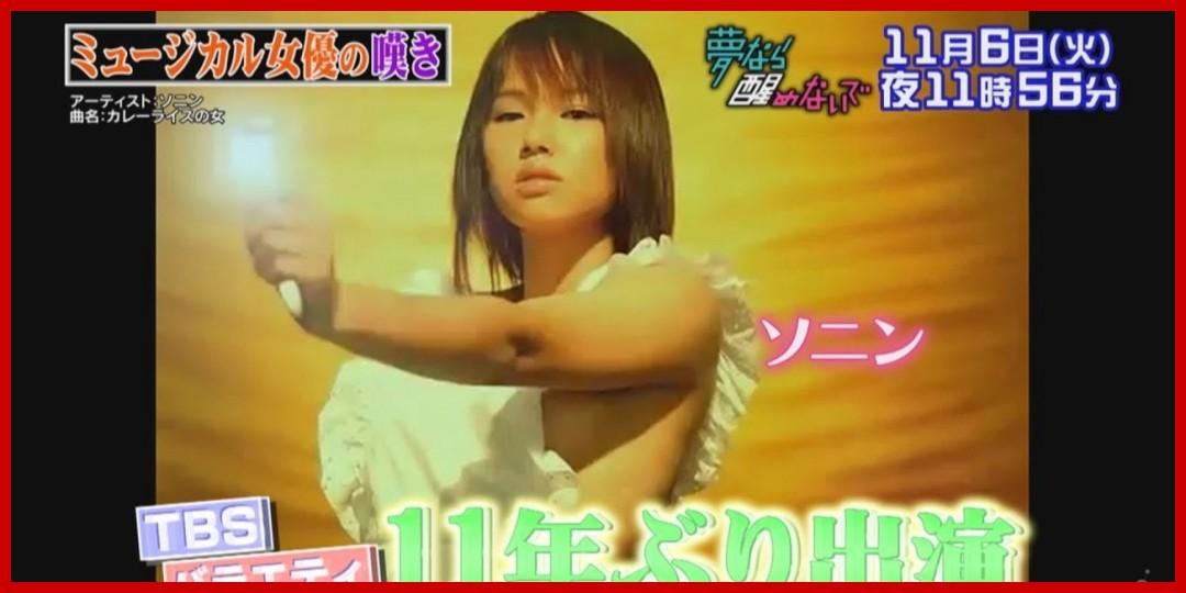 [動画あり]ソニン 「有田哲平の夢なら醒めないで」 ミュージカル女優の嘆きSP!