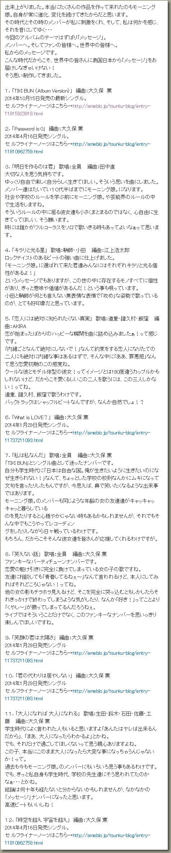 モーニング娘。'14 10/29発売アルバム「14章~The message~」