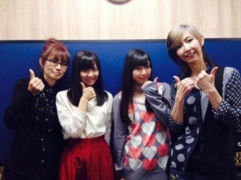 フクちゃん「なんと!! 女性バンドSHOW-YAの中村さん角田さんと Juice=Juice 宮崎由加ちゃんとお仕事してきました♪」