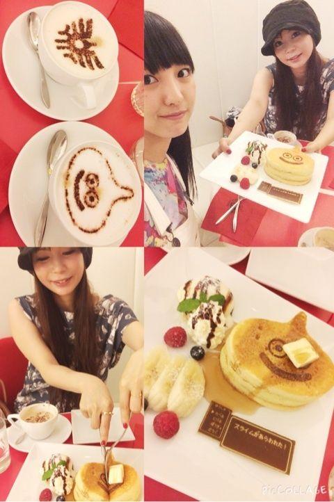 モーニング娘。'15飯窪春菜、中川しょこたんとドラクエカフェ&映画デート 「スライムパンケーキをバターとメープルで容赦なく攻撃しました( ^ω^ )」