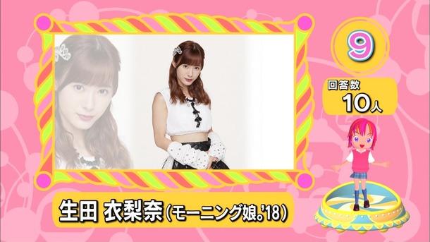 【モーニング娘。】ランク王国期待の新成人ランクングでアイドルから唯一生田衣梨奈がランクイン